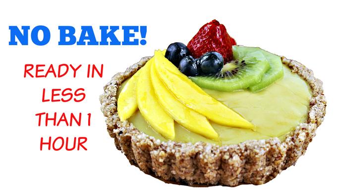 Vegan No Bake Fruit Tart