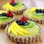 No Bake Vegan Fruit and Custard Tart