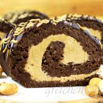 Chocolate Peanut Butter Swiss Roll