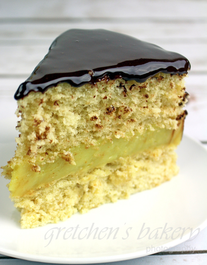 Vegan Boston Creme Pie
