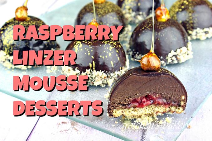 Raspberry Linzer Mousse Desserts