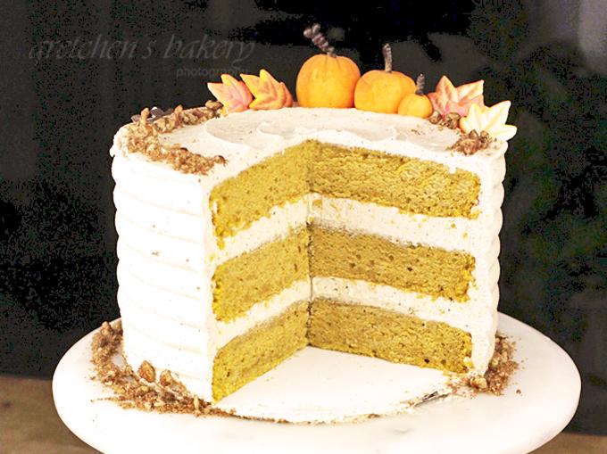 Pumpkin Velvet Cake with Pumpkin Spice Buttercream