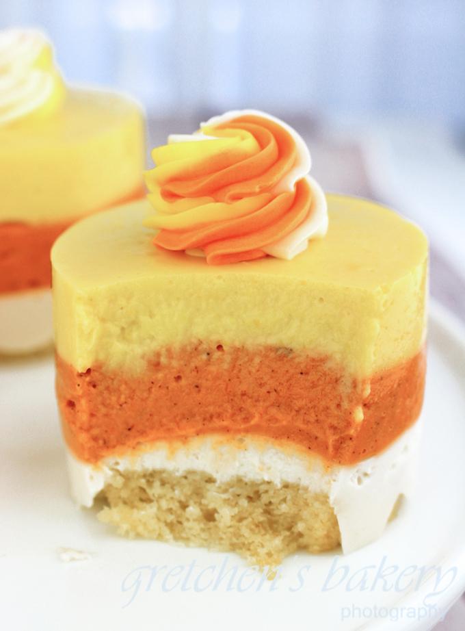 No Bake Candy Corn Cheesecake