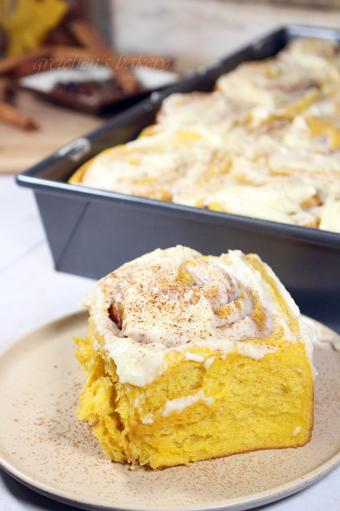 Pumpkin Spiced Cinnamon Buns
