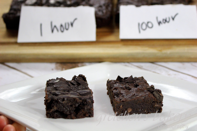 100 Hour vs 1 Hour Vegan Fudge Brownies