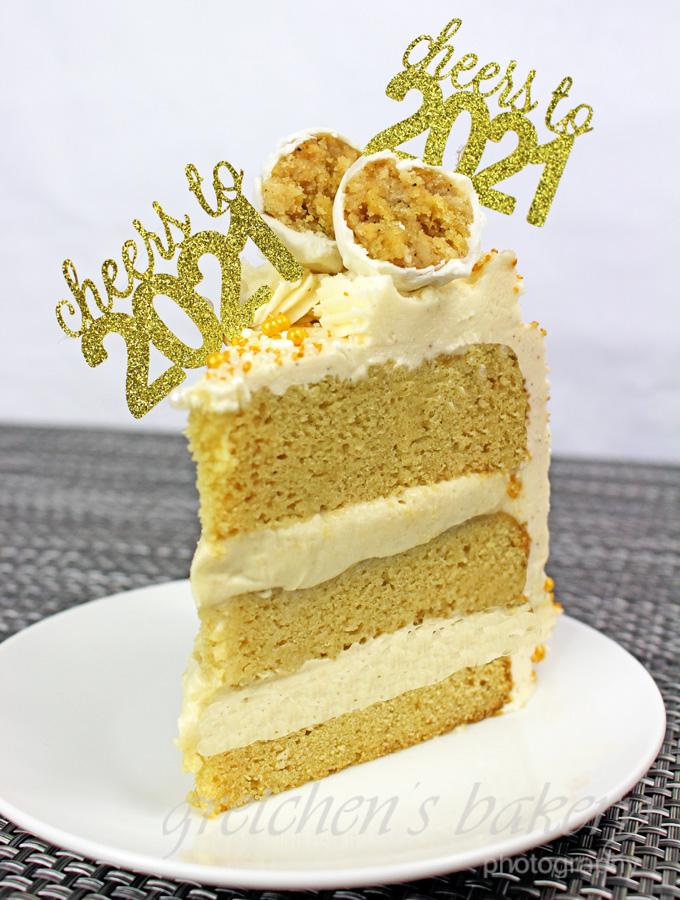 Vegan Egg Nog Cake