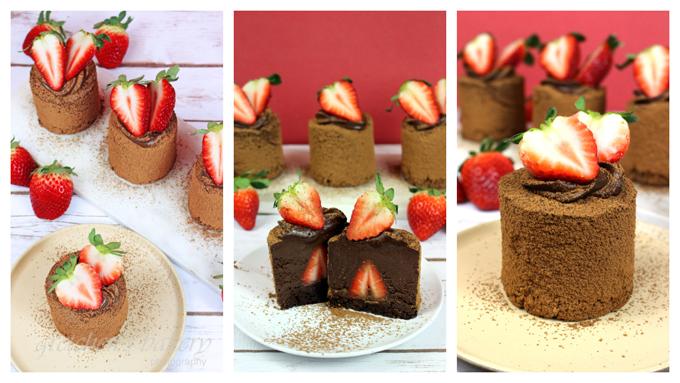 Chocolate Covered Strawberry Vegan Chocolate Mousse Cake