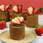 Chocolate Covered Strawberry Vegan Chocolate Mousse Cake