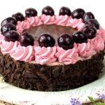 Vegan Black Forest Cheesecake