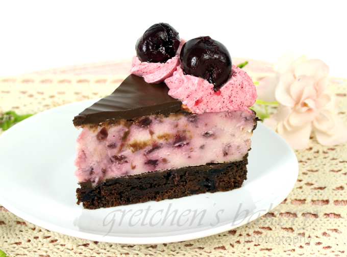 Vegan Black Forest Cheesecake