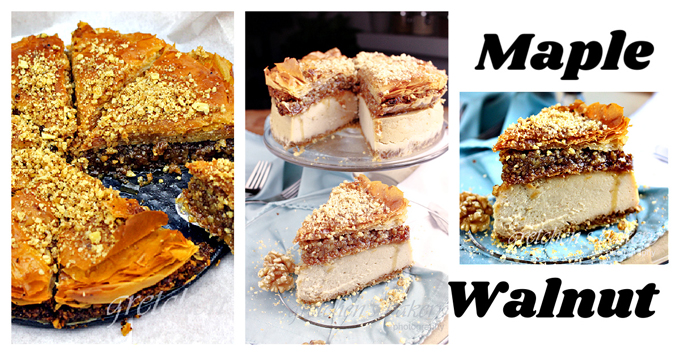 Baklava Cheesecake ~ Maple Walnut ~ Vegan
