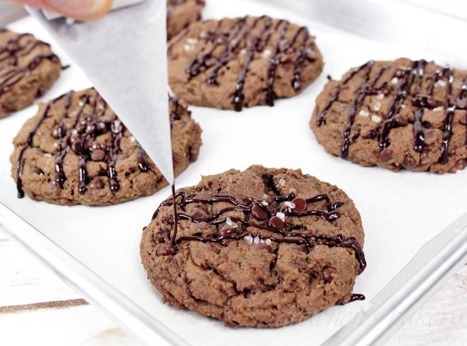 Double Chocolate Chip Cookies ~ Vegan