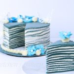 Vegan Crepe Cake ~ Blue Butterfly Pea Flower