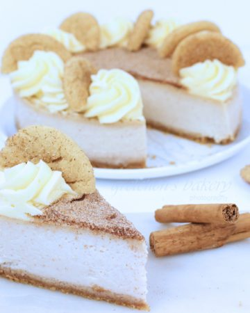 Vegan Snickerdoodle Cheesecake