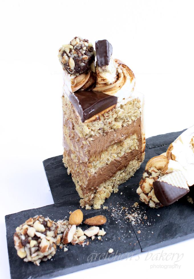 Chocolate Mousse Cake ~ Almond Sponge Cake