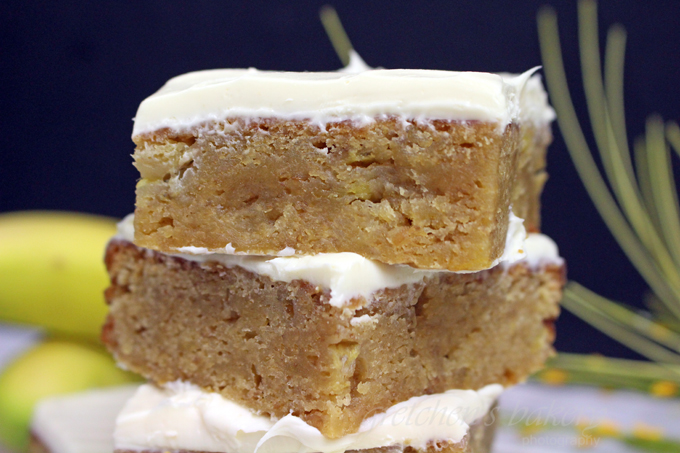 Butterscotch Banana Blondies ~ Vegan