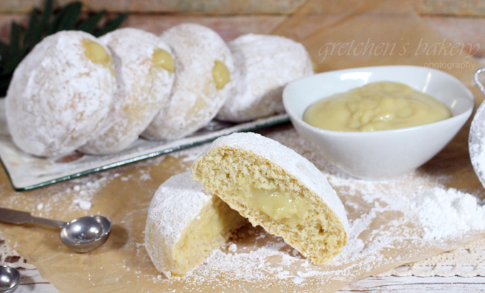 Cream Filled Powdered Donuts