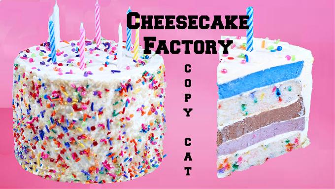 Birthday Cake Cheesecake~ Copy Cat