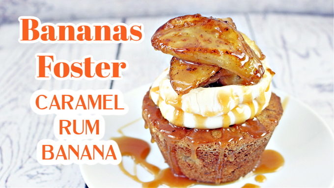 Bananas Foster Cupcake
