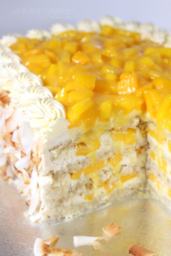 Coconut Mango Cream Cake
