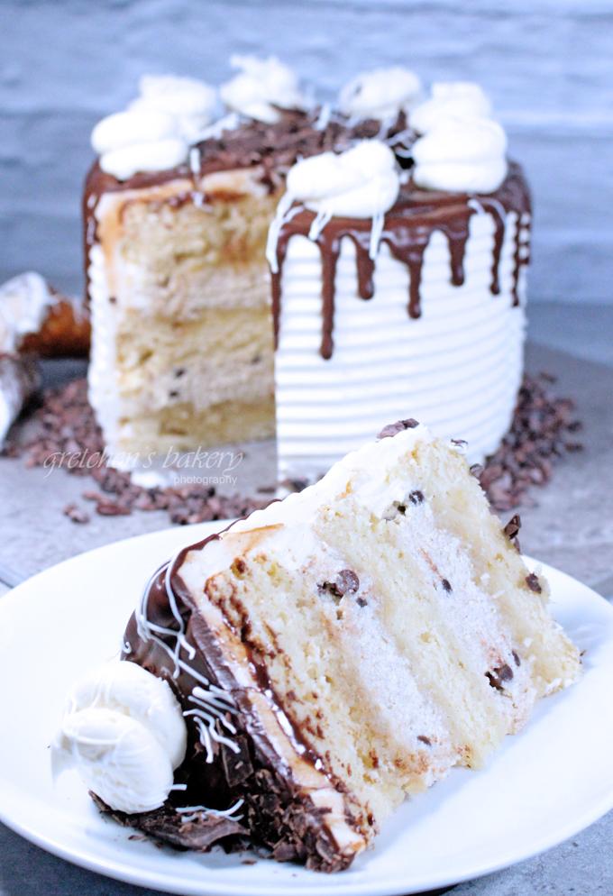 Vegan Cannoli Cake