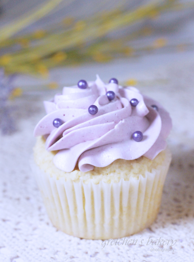 Lemon Ricotta Cupcakes with Lavender Frosting